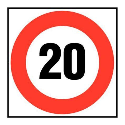 bureau fournitures panneau d 39 interdiction vitesse limitée à 20 km h