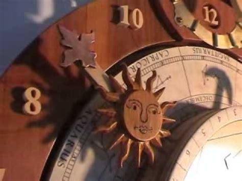 wooden gear clock genesis design astronomical wooden clock