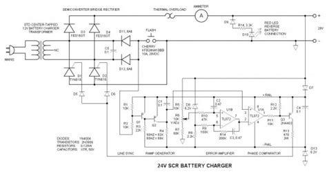 Battery Charger With Scr