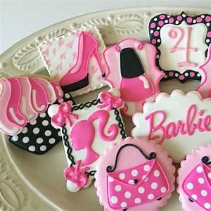 Barbie Birthday Cookies Cookies By Songbird Sweets