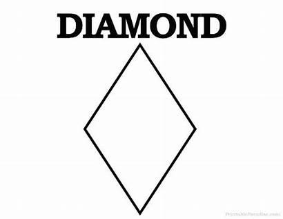 Diamond Shape Shapes Printable Crafts Template Printableparadise