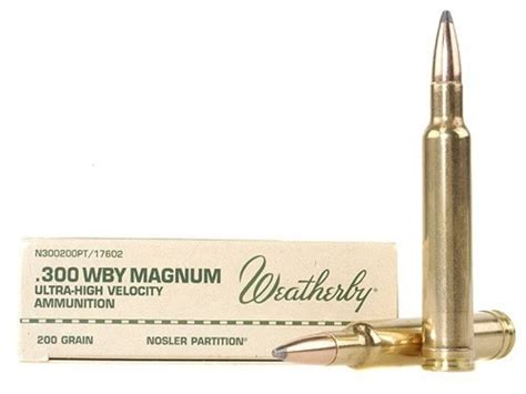 Weatherby Ammo 300 Weatherby Mag 200 Grain Nosler