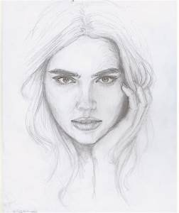 Easy Pencil Drawings Of Faces - Drawing Sketch Library