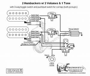 2 Humbuckers  3 2 Volumes  1 Tone  Coil Tap