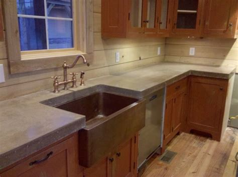 copper tile backsplash for kitchen cast n place concrete countertops traditional kitchen