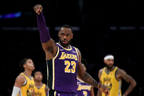 lakers  warriors final score lebron james finally ends