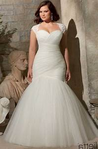 flattering plus size wedding dresses pluslookeu collection With flattering wedding dresses