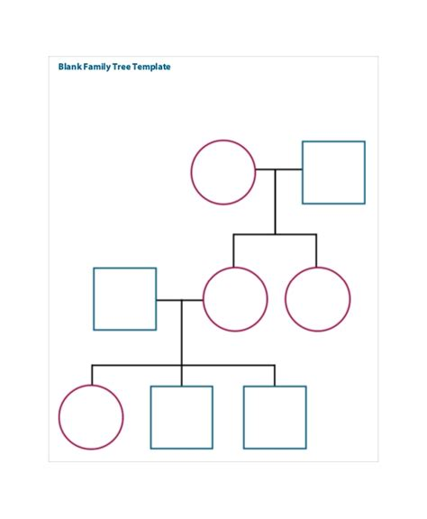 Family Will Template family tree template 8 free word pdf document