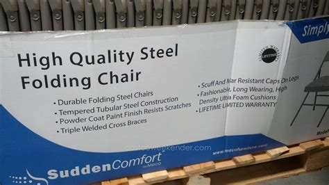 meco 027p25s84m deluxe steel padded folding chair costco