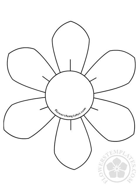 flower daisy  petal template flowers templates