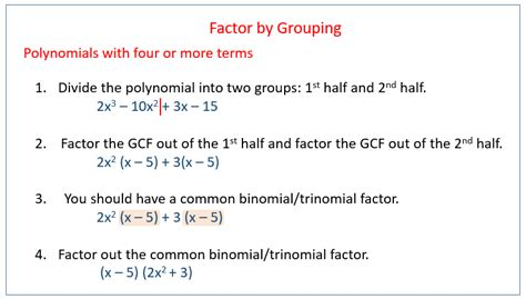 factoring  grouping solutions examples
