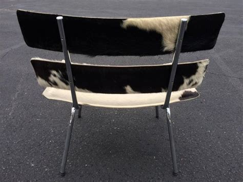 cowhide and chrome eames style chair for sale at 1stdibs
