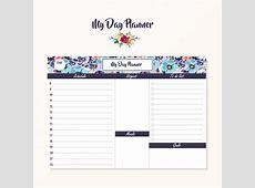 Day planner design Vector Free Download