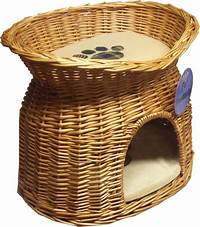 wicker pet bed 2 TIER WICKER CAT BED BASKET PET POD HOUSE SLEEPING CUSHIONS PUPPY SMALL DOG BED | eBay