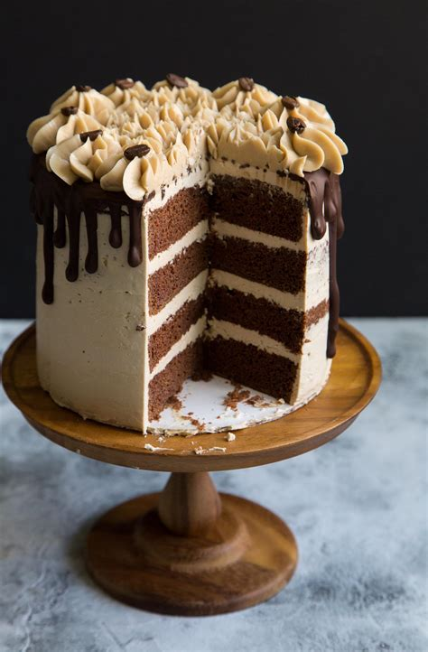 espresso chocolate cake  swiss buttercream
