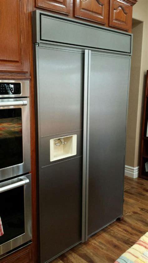 fridge wrap    brushed stainless wrap