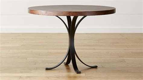 copper top dining table care cobre 42 quot round iron bistro table with copper top crate