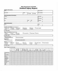 Elementary School Accident Report Form