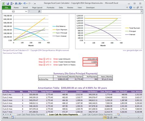 mortgage amortization table excel mortgage loan calculator amortization table extra