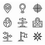 Icons Navigation Maps Compass Vector