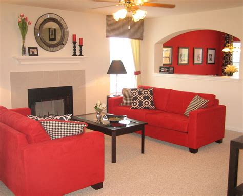 Red And Beige Living Room Ideas : Modern Beige Living Room Design Ideas With Red Sofa And