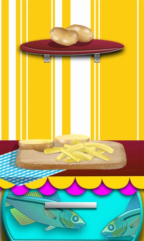 jeux de cuisine de poisson chips de friture de poissons maker jeux de cuisine pour