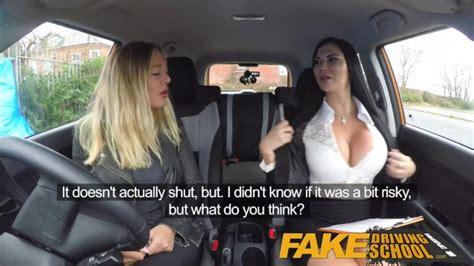 Fake Driving School Lesbian Sex With Hot Australian Babe