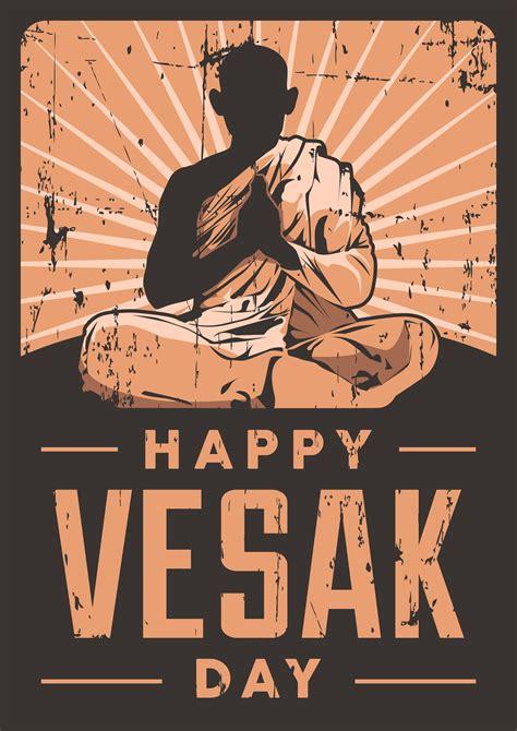 vesak day poster    vectors clipart
