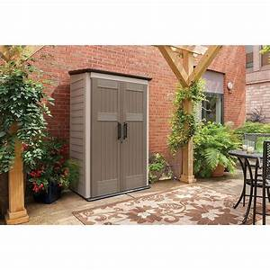 rubbermaid plastic large vertical outdoor storage shed 52 With kitchen cabinets lowes with resin outdoor wall art
