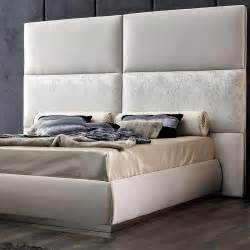 Tall Upholstered Bed with Headboard