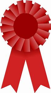 Clipart - Award Ribbon -- Red