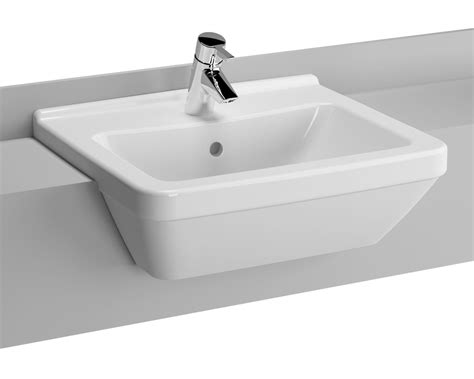 Vitra S Square Mm Tap Hole Semi Recessed Basin