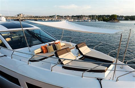Boat Bow Lounger Cushions by 60 Cantius Cruisers Yachts
