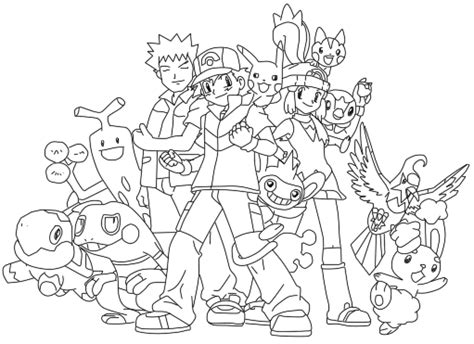 lineart pokemon diamond ad pearl group by thebl on DeviantArt
