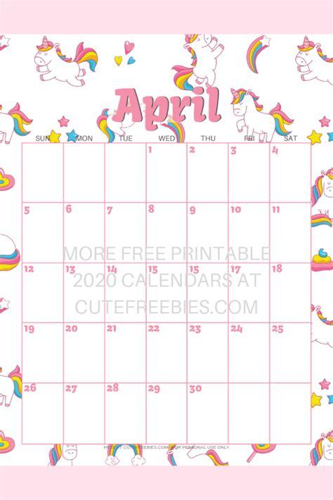 cute unicorn  calendar  printable  blank
