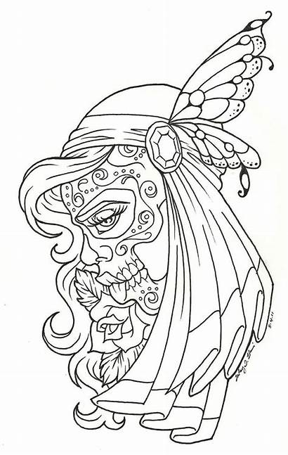 Coloring Dead Pages Tattoo Colors Adult Getcoloringpages
