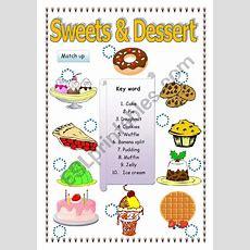 Sweet & Dessert  Esl Worksheet By Saifonduan