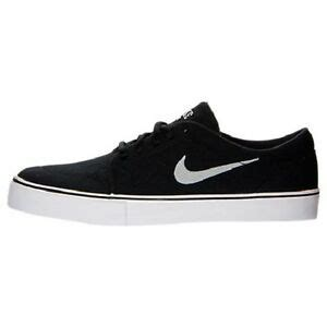 nike satire canvas black metallic silver black 555380 001