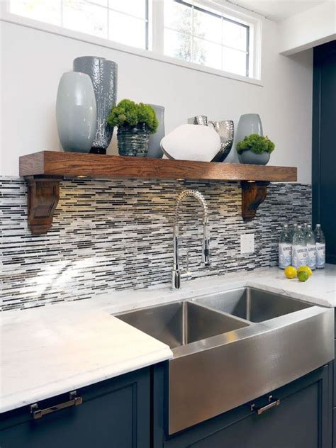 farmhouse sink pictures kitchen cabinet color backsplash i like the blend of wood 7163