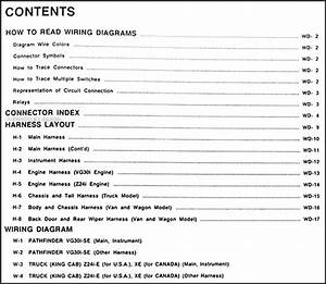 1989 Nissan Truck And Pathfinder Wiring Diagram Manual