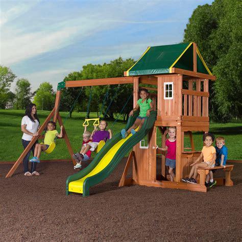 backyard swing set flyer play park metal swing set walmart