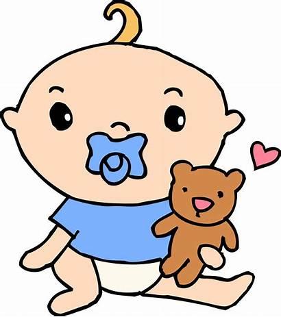 Boy Pacifier Clip Teddy Clipart Sweetclipart