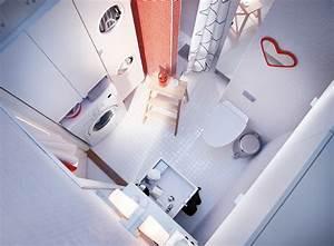 Linge De Toilette Ikea : une salle de bains avec un coin buanderie ~ Teatrodelosmanantiales.com Idées de Décoration