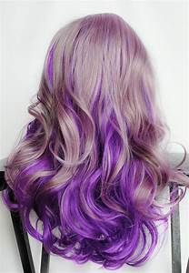 Lilac Frost // Lavender Pastel Purple Ombre Hair // Curly ...