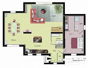 plan de maison moderne au cameroun With amazing plan de maison 110m2 6 plan maison moderne gratuit pdf