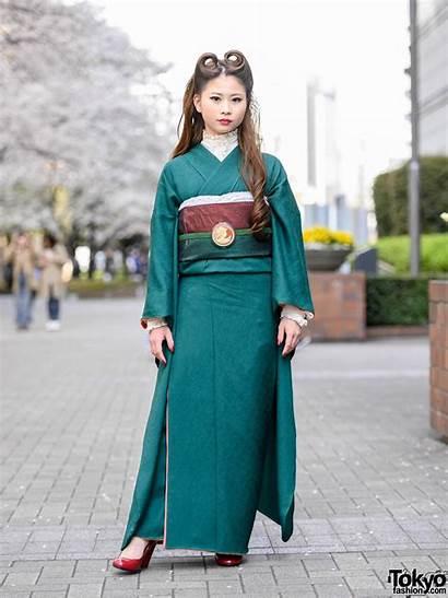Street Kimono Japanese Hairstyle Tokyo College Victory