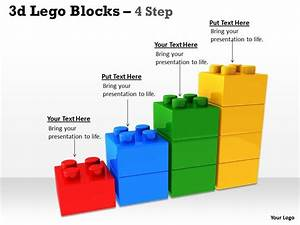 3d Lego Blocks 4 Step