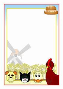 Word Page Border Templates Little Red Hen Story Characters A4 Page Borders Sb5813