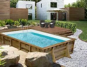 piscine bois landes With exceptional terrasse en bois pour piscine hors sol 2 enterrees hors sol semi enterrees des piscines bois