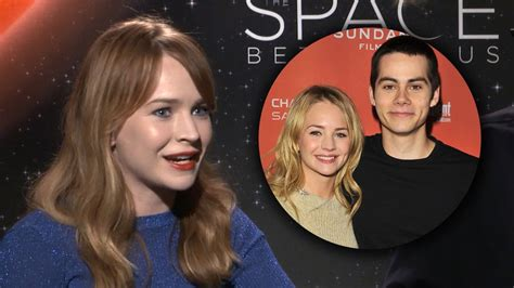 dylan o brien engaged britt robertson reveals craziest thing she did for bf